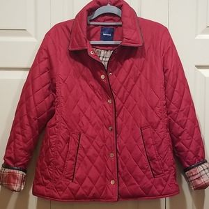 Basic Edition Red Quilted Spring Jacket Size M